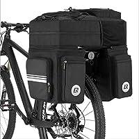 自転車用バッグ 自転車用サイドバッグ 48L バッグ 棚のパッケージの後 防水 マウンテンバイク長距離乗り物用品 テールバックパックBlack