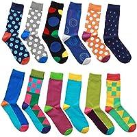 Eabern 12 Pairs Men's Premium Cotton Classic Dress Socks