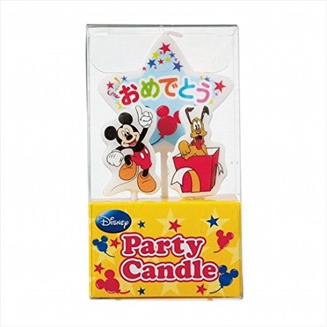 二次数字傾くkameyama candle(カメヤマキャンドル) ディズニーパーティーキャンドル【ケーキ用キャンドル】 「 ミッキー 」(A3120010)