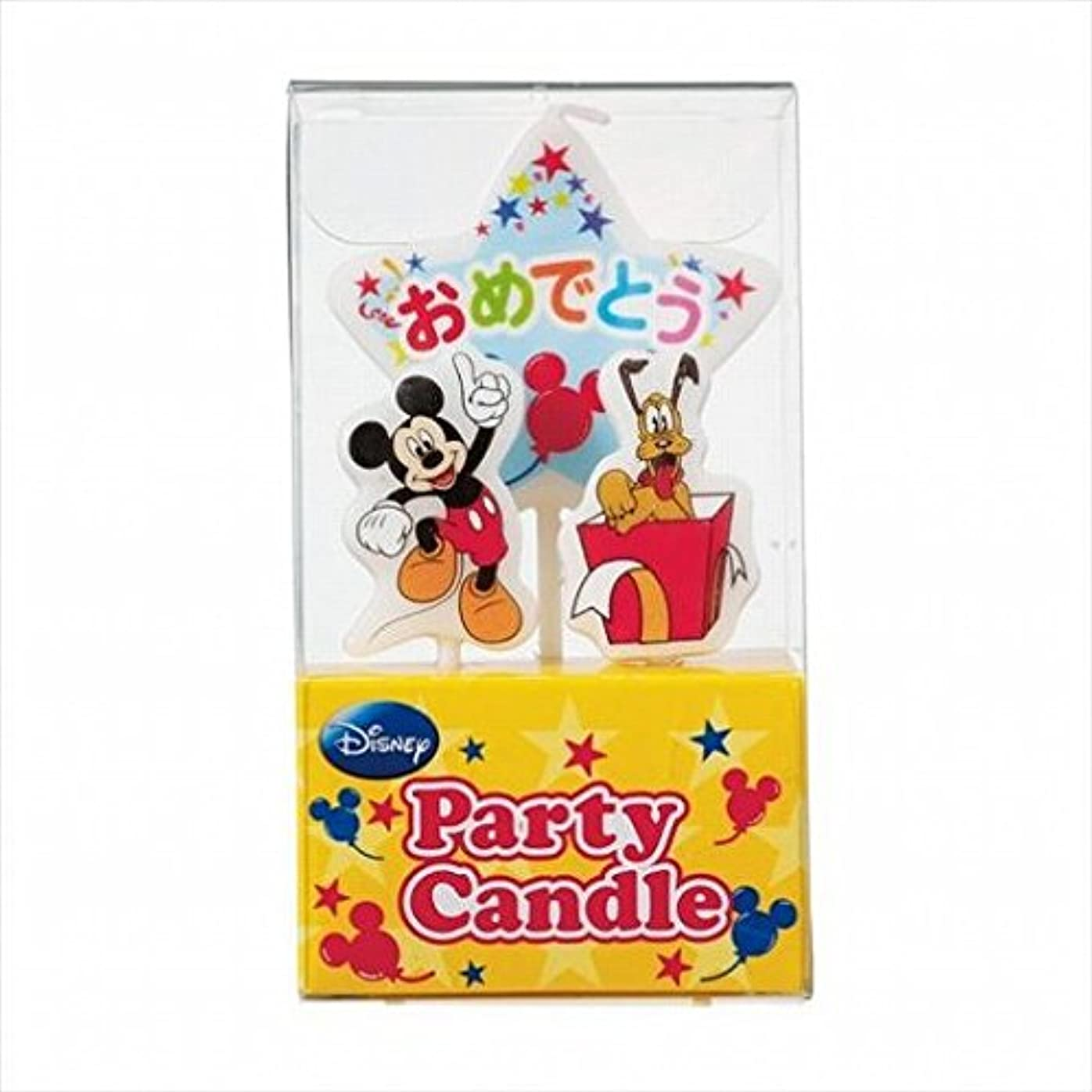 フリル僕のふざけたkameyama candle(カメヤマキャンドル) ディズニーパーティーキャンドル【ケーキ用キャンドル】 「 ミッキー 」(A3120010)