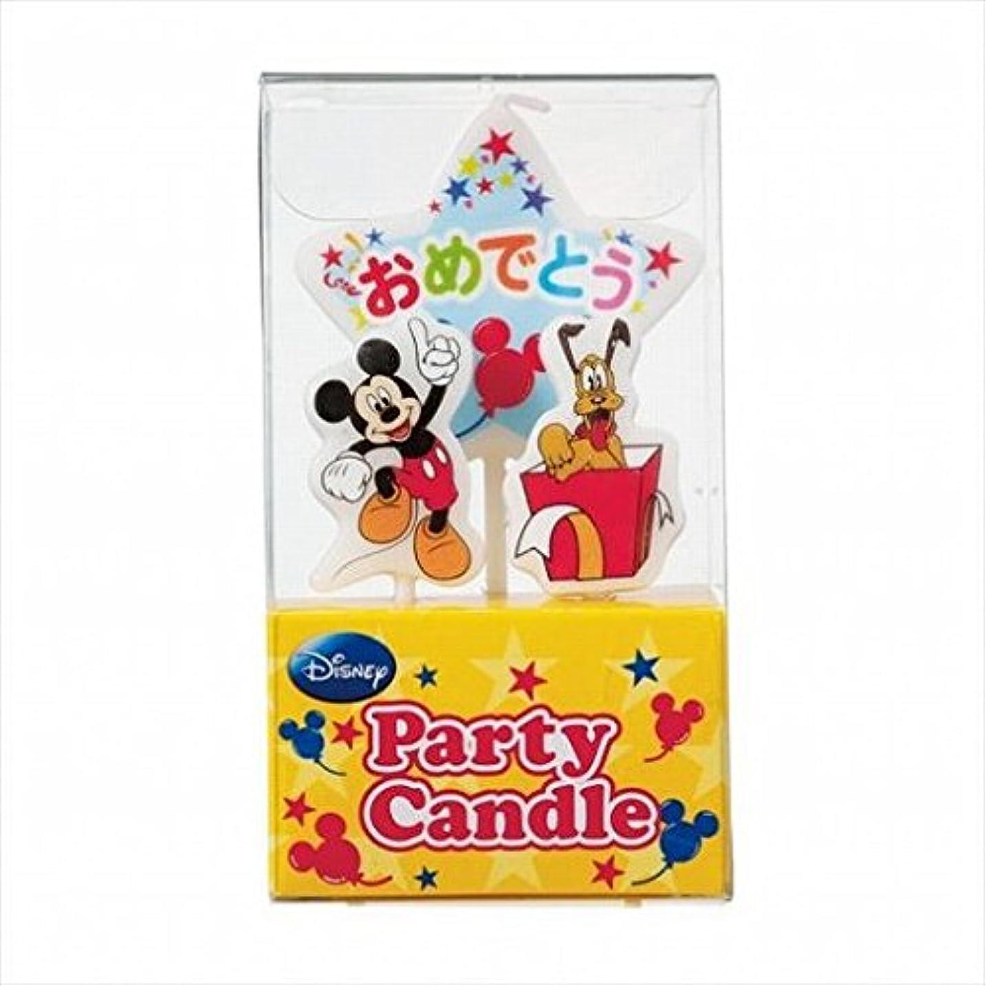 パースブラックボロウ見る人代わりのkameyama candle(カメヤマキャンドル) ディズニーパーティーキャンドル【ケーキ用キャンドル】 「 ミッキー 」(A3120010)