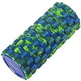 Readaeer フォームローラー ヨガポール トリガーポイント&筋筋膜リリース マッサージ&ストレッチローラー (ブルー×グリーン)