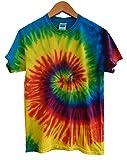 (カラートーン) COLORTONE タイダイ Tシャツ (M(日本サイズL程度), Reactive Rainbow) [並行輸入品]