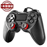 PS4 コントローラー Blitzl PC コントローラー PS4 Pro/Slim PS3 Win7/8/10 対応 有線 ゲームパッド 人体工学 二重振動