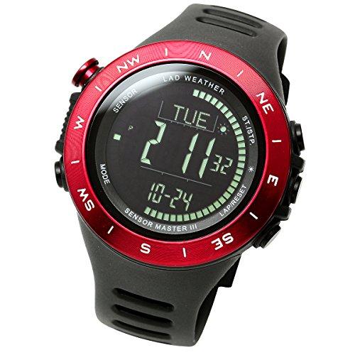 [LAD WEATHER]アウトドア腕時計 メンズ時計 登山 トレッキング 気圧計 高度計 デジタルウォッチ 100m防水 lad024