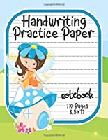 Handwriting Practice Paper: Notebook With Dotted Line Students K-3, 8.5x11 inches, 110 Sheets.