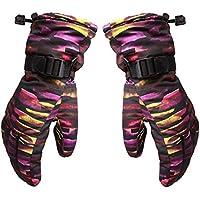 Eleoption スノー スノーボード グローブ スキー ミトン 手袋 男女兼用 レディス メンズ 防水 防寒 防風 保温 滑り止め 5本指 タイガーパターン