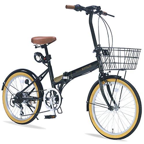 折りたたみ自転車 20インチ 6段変速 オールインワン M-252