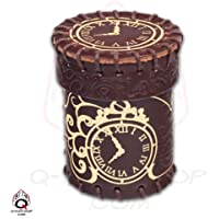 Steampunk Brown Leather Dice Cup
