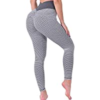KIWI RATA Women's High Waist Yoga Pants Tummy Control Slimming Booty Leggings Workout Running Butt Lift Tights