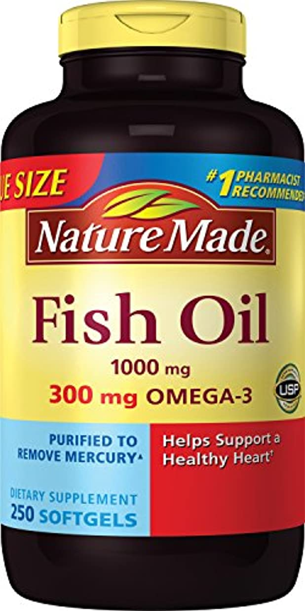 角度リレー息切れNature Made Fish Oil 1000 Mg, Value Size, Softgels, 250-Count 海外直送品