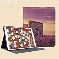 iPad mini 1 2 3 ケース 二つ折スタンド オートスリープ機能 iPad Mini3/2/1(初代第二三世代) 専用スマートカバー繁栄の春の野原と損傷した古い歴史的遺跡の夕日の装飾的なビュー