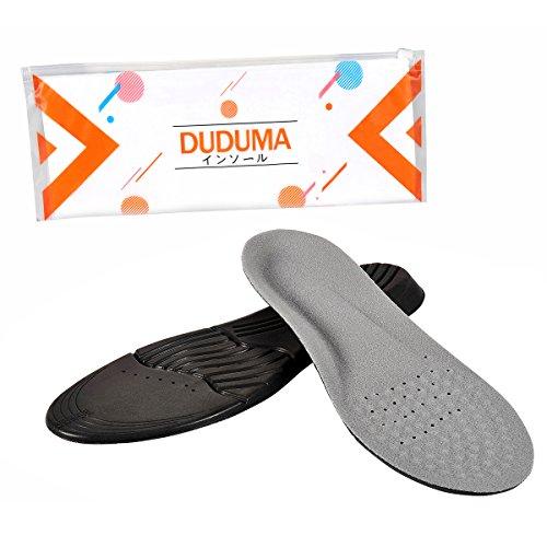 Duduma インソール 男性と女性用衝撃吸収中敷き スポーツや立ち仕事に適しています (M)