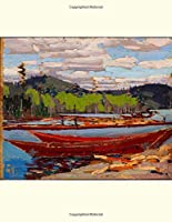 Bateaux, Tom Thomson. Blank journal: 150 blank pages, 8,5x11 inch (21.59 x 27.94 cm) Soft cover / paper back