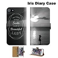 【 iris 】 手帳型ケース 全機種対応 【 iPhone6/6s アイフォン 6/6s専用 】 California LAsurf 西海岸 beachカリフォルニア ブック型 二つ折り レザー 手帳カバー スマホケース スマートフォン