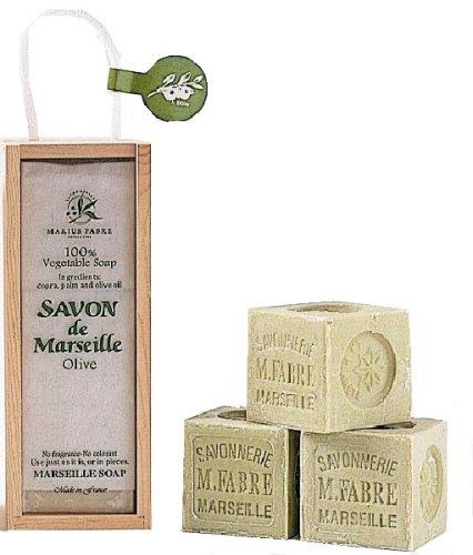 サボン ド マルセイユ 木箱ギフト オリーブ