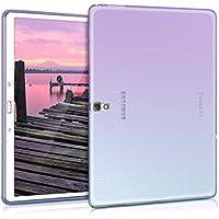 kwmobile Samsung Galaxy Tab S 10.5 のためのクリスタルケースTPU シリコンケース タブレット 保護ケース カバー ツートーンデザイン 用 紫色青色透明