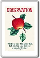 Millions Saw The Apple Fall, But Newton Was The One To Ask Why - Motivational Quotes Fridge Magnet - ?????????