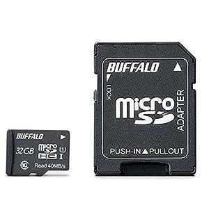 BUFFALO UHS-I Class1 microSDカード SD変換アダプター付 32GB RMSD-032GU1SA/N [フラストレーションフリーパッケージ(FFP)]