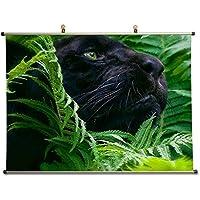 ブラックパンサー – キャンバス壁スクロールポスター( 32 x 24インチ)
