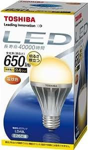 TOSHIBA E-CORE(イー・コア) LED電球(口金直径26mm・一般電球形・白熱電球40W相当 650ルーメン・電球色) LDA9L