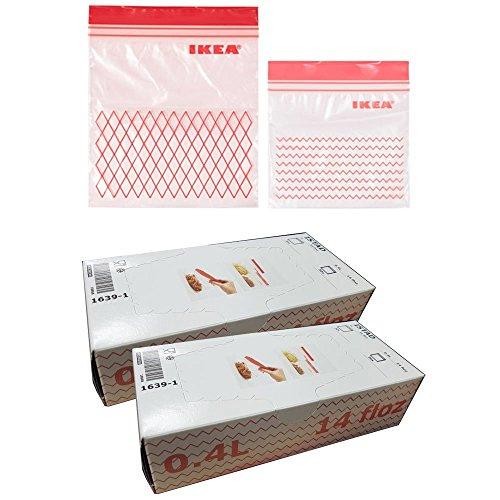 IKEA ISTADプラスチック冷凍庫バッグ、レッド120パック