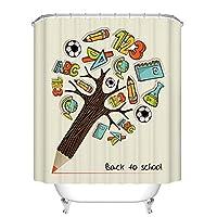 浴室のシャワーカーテン ヨーロッパ人格創造性手描きクレープ肥厚不透明ポリエステルバスルーム無料ピアスシャワーカーテン防水と金型バスルームアクセサリー - (Color : B, サイズ : 180cm*200cm)