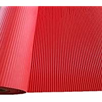 PVCゴム滑り止めマット、プラスチックフロアマット、防水および耐摩耗カーペット CONGMING (色 : Red, サイズ さいず : 1.2m*5m)