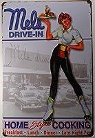 Mel's Drive-In★メルズドライブイン・ローラーガール★アメリカンブリキ看板
