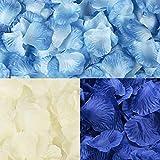 フラワーシャワー 造花 綺麗な花びら結婚式 誕生会 二次会 ウエディング 演出会パーティー飾り1200枚セット 青い色系