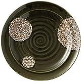 和(なごみ) 格子織部 30cm リム付 丸皿 30cm×30cm A033034-18