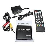 【 簡単接続 】 超小型 多機能 ポータブル メディア プレーヤー 日本語 英語 1080p 対応 HDMI 出力 SD USB 手のひらサイズ MI-MINIMEDIA  日本語取説あり(ブラック)