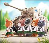 トリファクトリー アニマルトループ トゥーンズシリーズ ドイツ ジャーニャン戦車隊 子猫小隊 閲兵式 レジンキット ATN-003