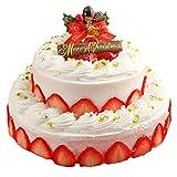 クリスマスケーキ 2018 王道の2段デコレーションケーキプレミアム 6号サイズ+4号サイズ2段 チーズケーキ ギフト プレゼント 予約
