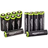 Amazonベーシック 充電式ニッケル水素電池 単3形8個パック (最小容量1900mAh、約1000回使用可能) + 充電式ニッケル水素電池 単4形8個パック (最小容量750mAh、約1000回使用可能) セット