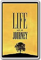 Life Is A Journey - Motivational Quotes Fridge Magnet - ?????????
