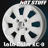 Lalapalm(ララパーム) KC-8 アルミホイール(1本) 14x4.5 +43 100 4穴(ホワイト) 14インチ