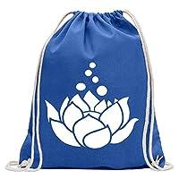 蓮の花 - 蓮の花 KIWISTAR - Lotus flowers - lotus flower ジムバッグ楽しいバックパックスポーツバッグGymsackコットンひも付き