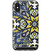 tech21 Evo Luxe Liberty London Marham Phone Case Cover for Apple iPhone X and XS - Blue