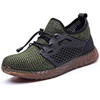 UCAYALI Steel Toe Work Shoes for Men Breathable Lightweight Safety Sneakers Construction Footwear