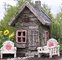 My Fairy Gardens Fairy Shed w/Swinging Door New Fairy House Fairy Cottage [並行輸入品]