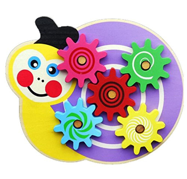 幼児期のゲーム 小さな赤ちゃんのおもちゃの木製のパズル動物牛のカタツムリのギアゲーム(カタツムリ)