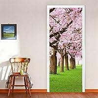 さくら3dツリードアステッカー粘着ビニール壁紙用リビングルーム寝室桜壁画紙diy防水デカール