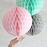 SUNBEAUTY 「3個セット」ミント+ピンク+グレー ハニカムボール (直径25㎝)