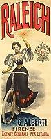 RaleighヴィンテージポスターイタリアC。1890 12 x 18 Art Print LANT-64961-12x18