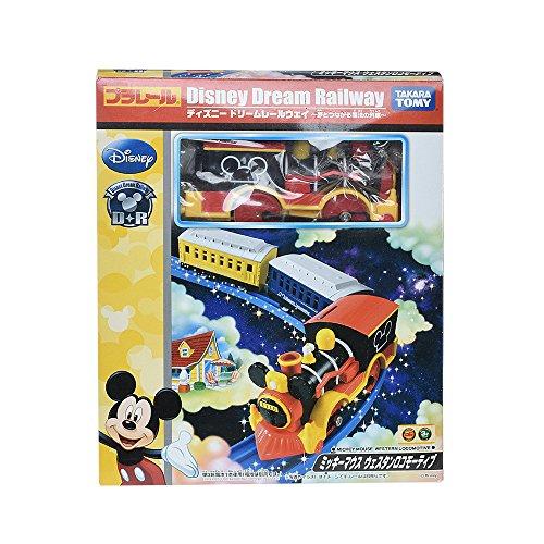 [해외]짱구 디즈니 드림 레일 웨이 미키 마우스 웨스턴 이동성/Plarail Disney Dream Railway Mickey Mouse Western Locomotive