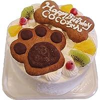 サラ 犬の肉球クッキーとおすわりクッキー付き ワンちゃん大丈夫果物付き 誕生日 2種のクッキーとフルーツのデコレーション 4号  ワンちゃんと飼い主さんが一緒に食べれるケーキ
