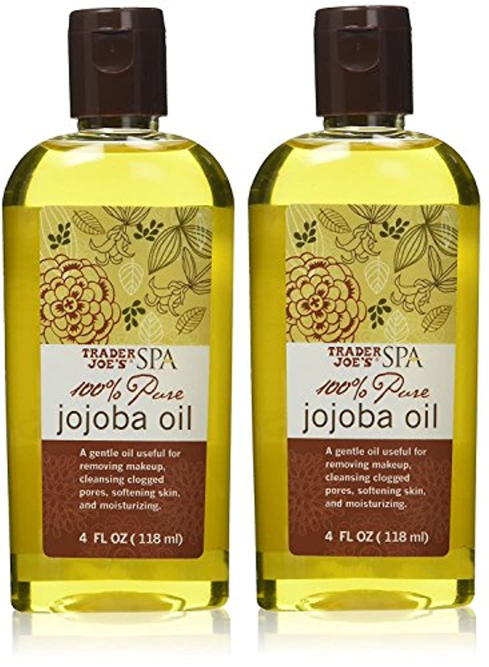 遺伝子四慢トレーダージョーズ 100%ピュア ホホバオイル【2個セット】 [並行輸入品] Trader Joe's SPA 100% Pure Jojoba Oil (4FL OZ/118ml)