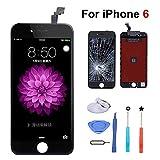 iPhone 6 用 液晶 フロントパネル (修理交換用)、一体型(液晶 デジタイザ)、高品質 LCD 液晶画面、「iPhone 6 4.7インチ 」の 3Dタッチパネル / ガラス修理液晶パネル、画面修理パーツ付属 (黒)