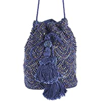 From St Xavier Women's Nevada Drawstring Clutch, Navy Blue, One Size